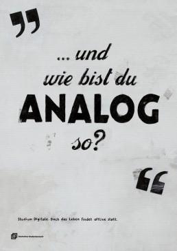 ... und wie bist du ANALOG so?