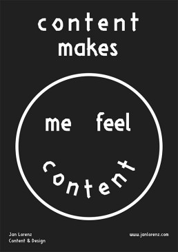 Content makes me feel content